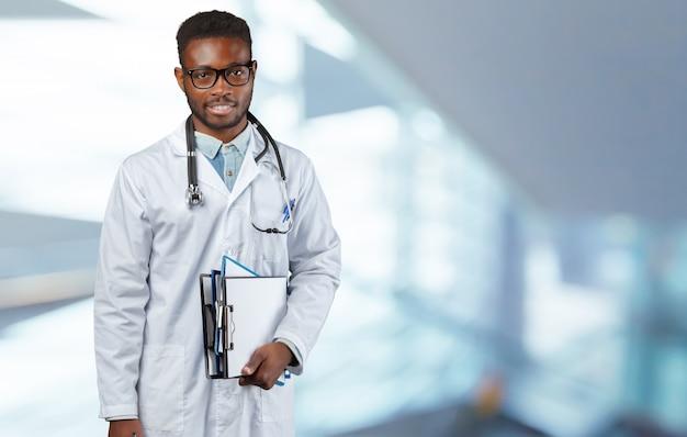 Portrait de médecin africain