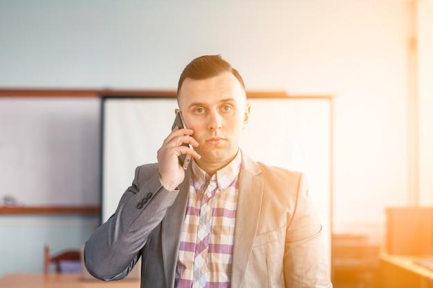 Portrait de mode de vie de l'homme d'affaires