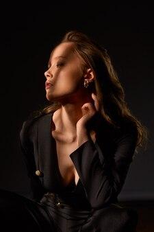 Portrait de modèle de mode.