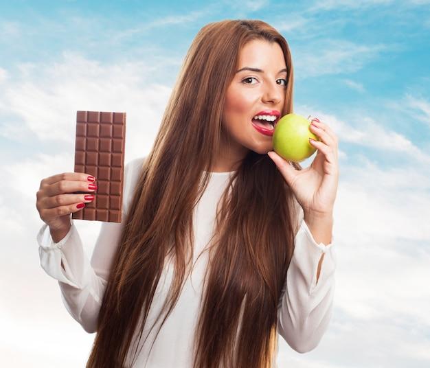 Portrait motivation sucre poids de style de vie