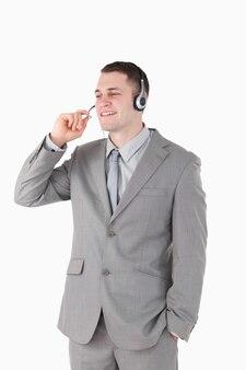 Portrait d'un opérateur avec un casque