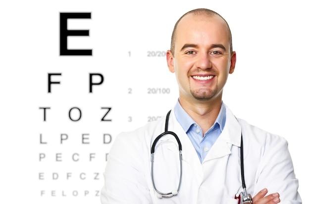 Portrait d'un optométriste