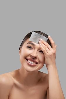 Portrait de papier buvard à l'huile pour le visage