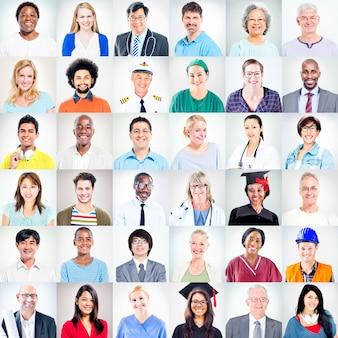 Portrait de personnes de métiers mixtes multiethniques