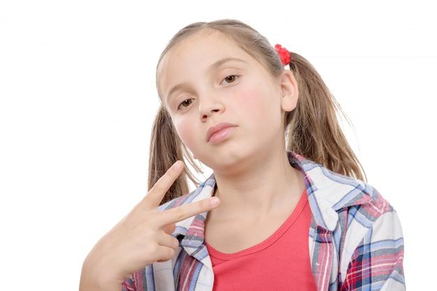 Portrait de preteen girl