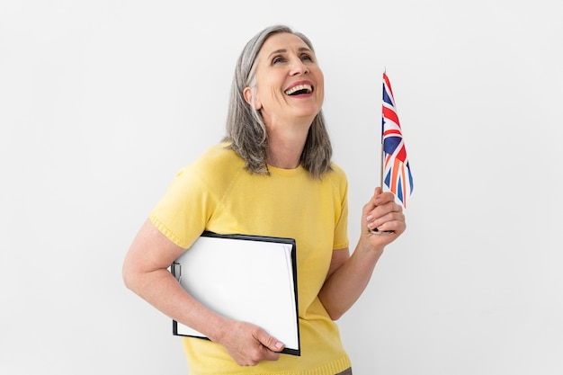 Portrait de professeur d'anglais féminin
