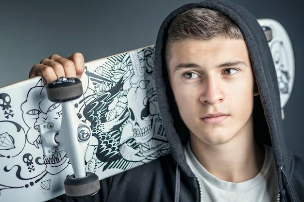 Portrait de skateur