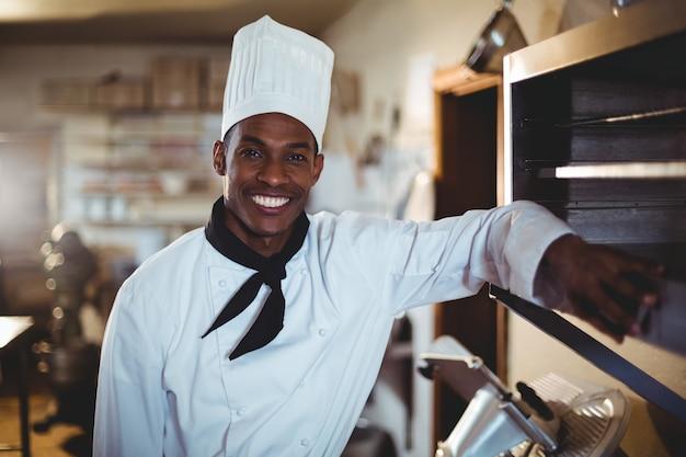 Portrait, de, sourire, chef cuisinier