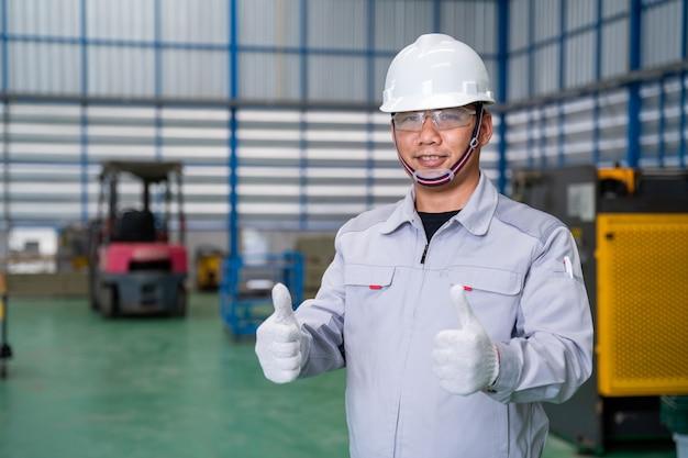 Portrait de travailleur manuel homme asiatique