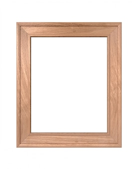 Portrait vertical vieux cadre en bois rendu 3d