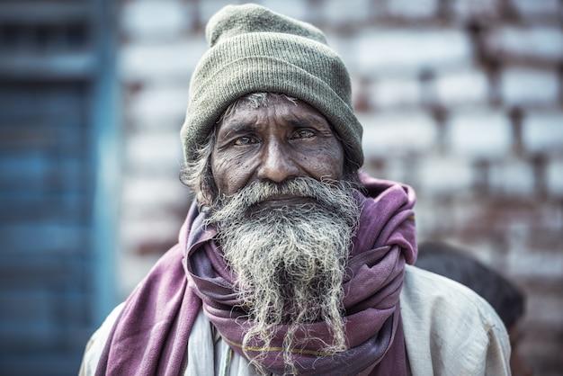 Portrait d'un vieil homme indien