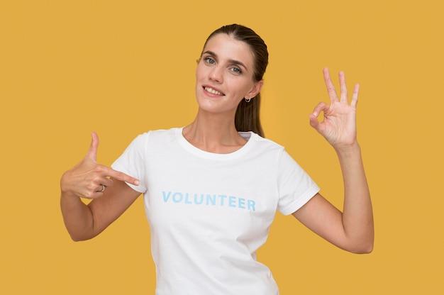 Portrait de volontaire humanitaire