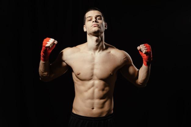 Pose de puissance de boxeur