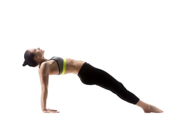 Pose de yoga en planche vers le haut