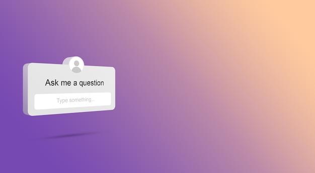 Posez-moi une question sur instagram 3d