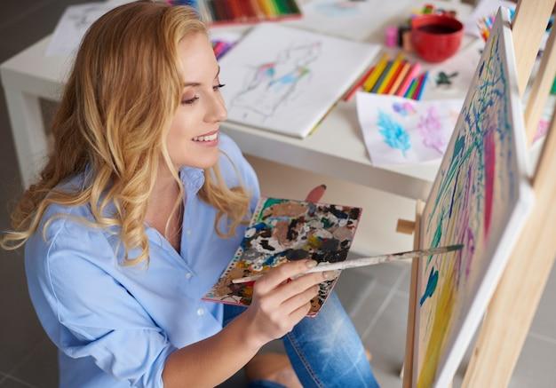 Position confortable pour faire des arts