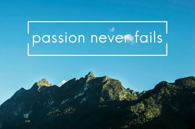 Positivité vie motivation passion inspiration mot graphique
