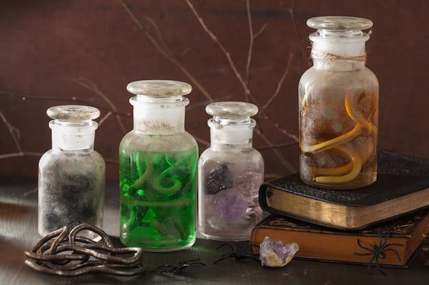 Pot d'apothicaire sorcière potions magiques décoration halloween