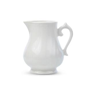 Pot en céramique isolé sur blanc