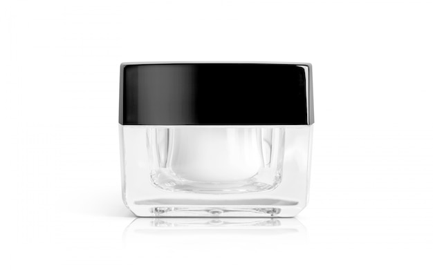 Pot de crème d'emballage pour produits cosmétiques pour maquette de conception de produit