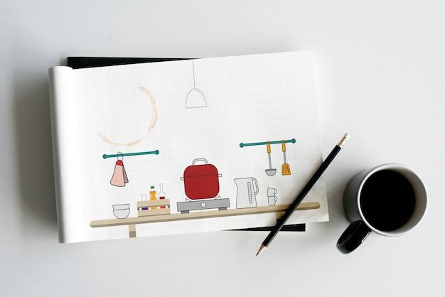 Pot de décoration de comptoir de cuisine