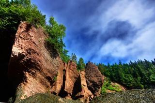 Pot de fleurs hdr roches naturelles