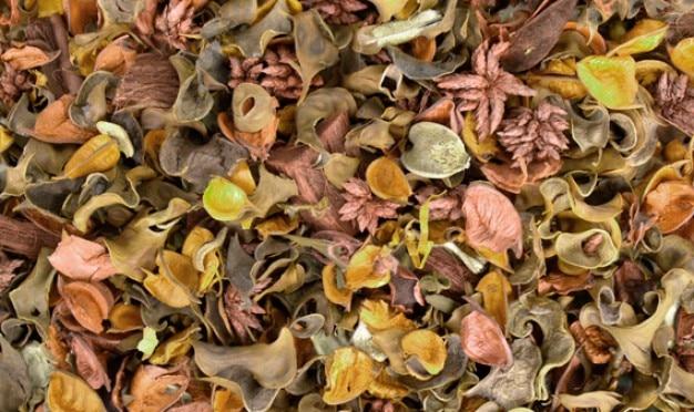 Pot-pourri fleurs séchées texture de 4 couleurs