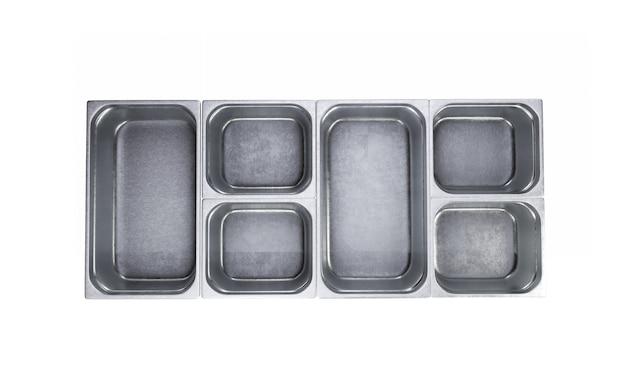 Pot vide blanc avec un rendu 3d de couvercle