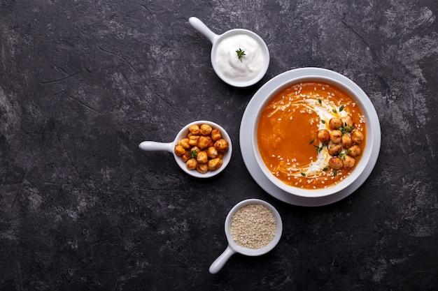 Potage au potiron et aux carottes