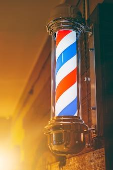 Poteau de salon de coiffure