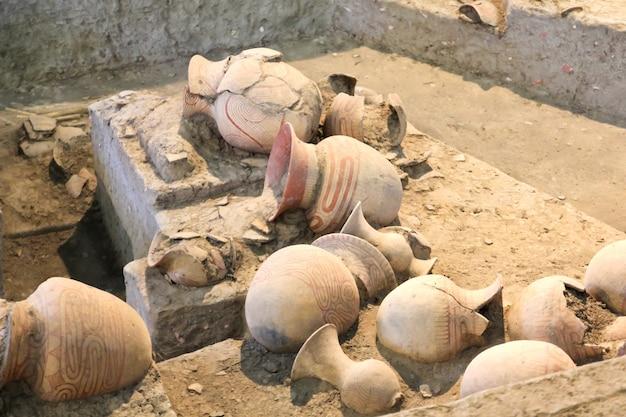 Poterie antique de ban chiang, udonthani, thaïlande.