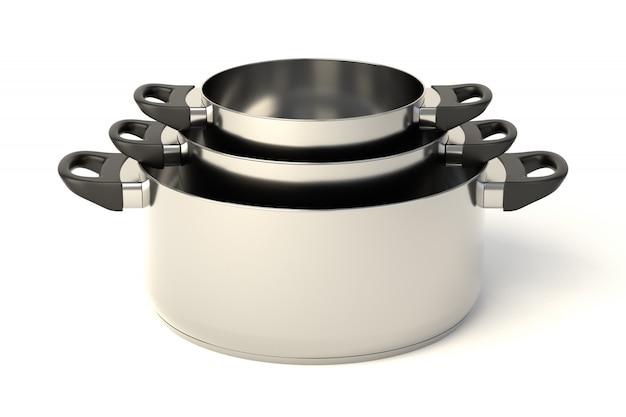 Pots en acier inoxydable ensemble de trois