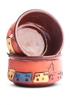 Pots d'argile décorés