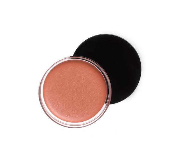 Pots de brillant à lèvres isolated on white