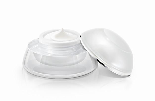 Pots cosmétiques à dôme blanc