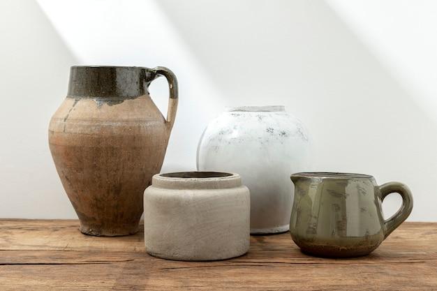 Pots de plantes rustiques esthétiques, décoration méditerranéenne