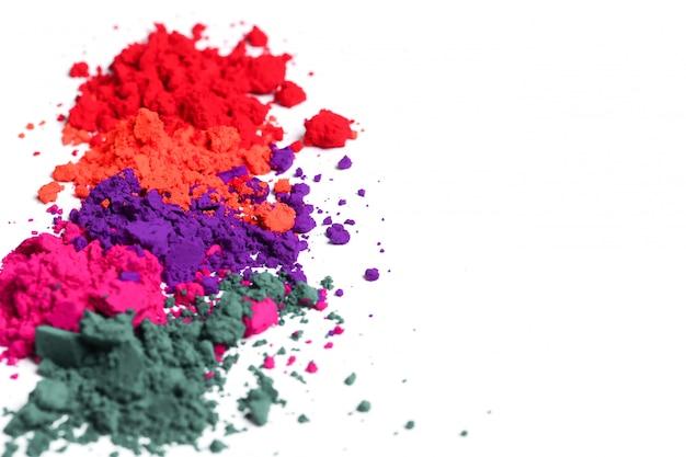 Poudre colorée, concept festival holi