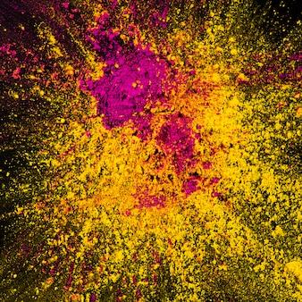 Poudre de holi décorative jaune et rose