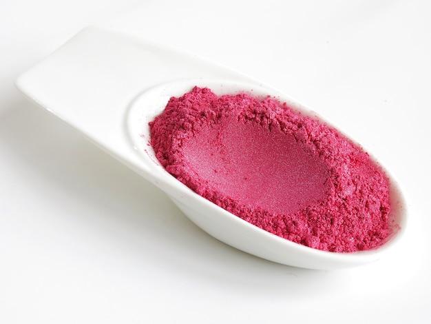 Poudre de pigment de mica rose choquant pour cosmétique