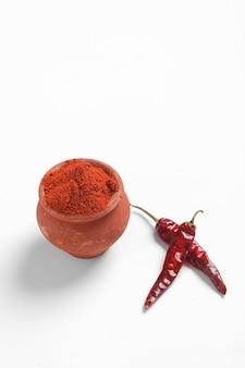 Poudre de piment rouge aux piments rouges séchés