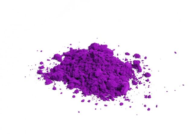 Poudre violette isolée, concept festival holi