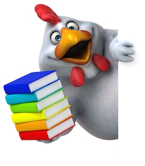 Poulet amusant - illustration 3d