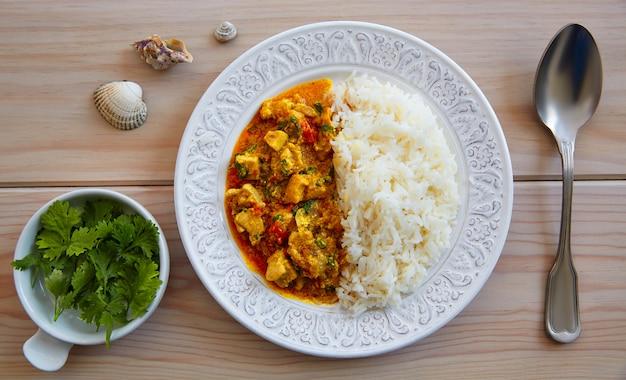 Poulet au curry plat recette indienne