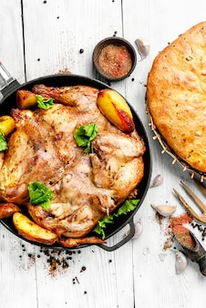 Poulet au four avec pommes de terre