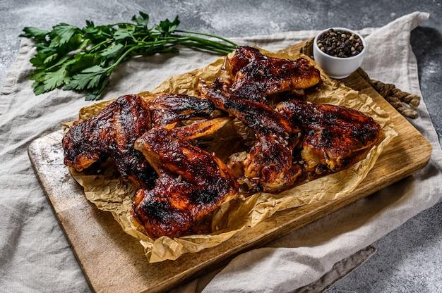 Poulet barbecue viande bio