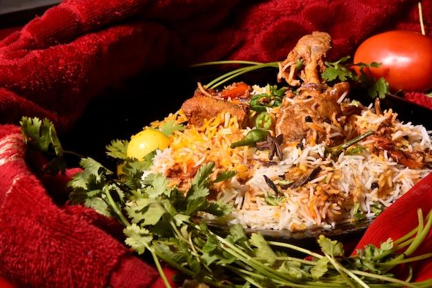 Poulet biryani style restaurant pakistanais ou cuisine indienne