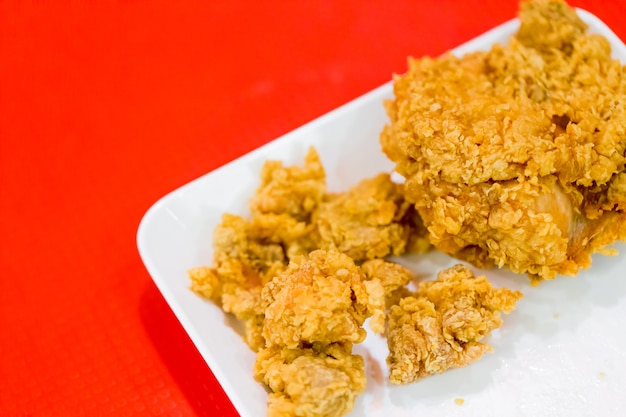 Poulet frit dans la restauration rapide occidentale la plus populaire du kentucky