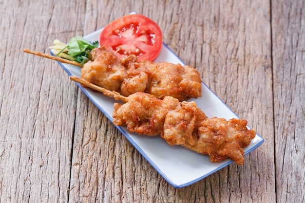 Poulet frit de la rue thai