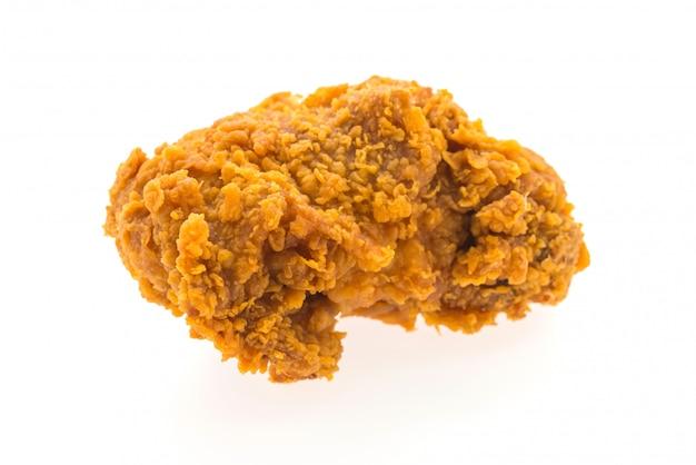 Poulet frites isolé