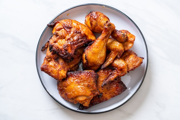 Poulet grillé et barbecue